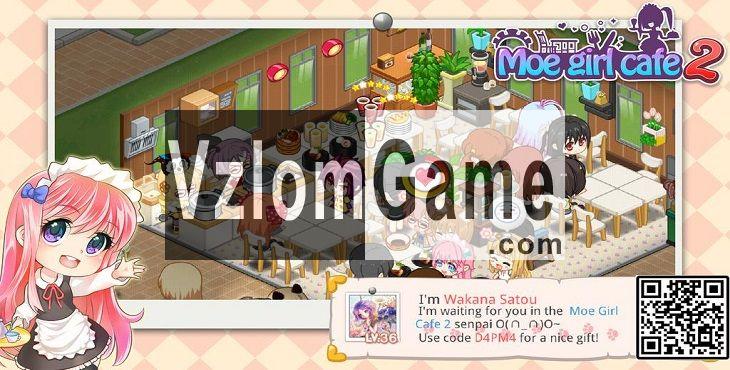 Moe Girl Cafe 2 Взломанная на Диаманты и Деньги