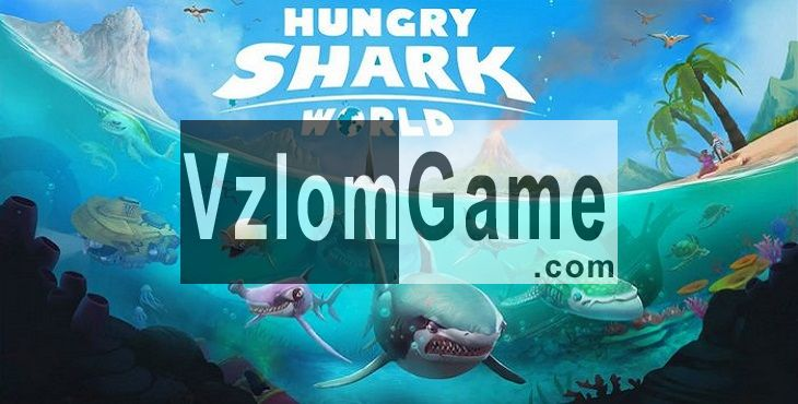 Hungry Shark World Взломанная на Кристаллы и Деньги