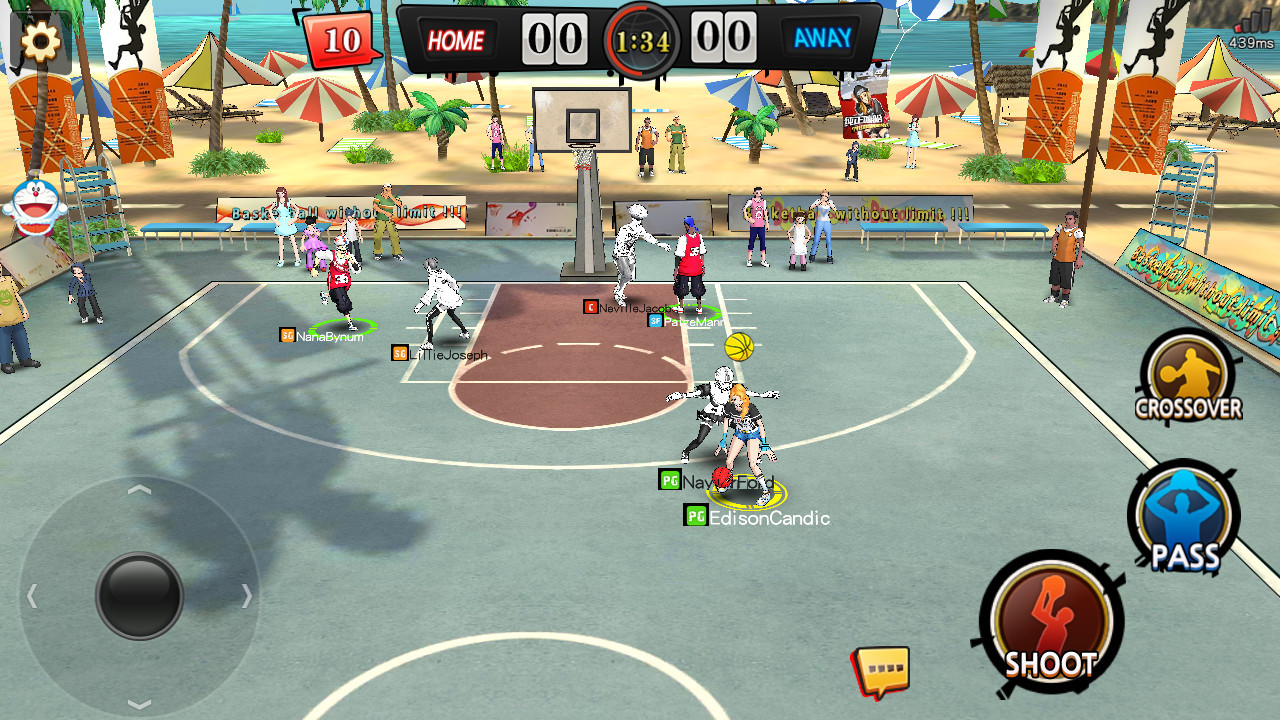 Dunk Nation 3X3 чит коды