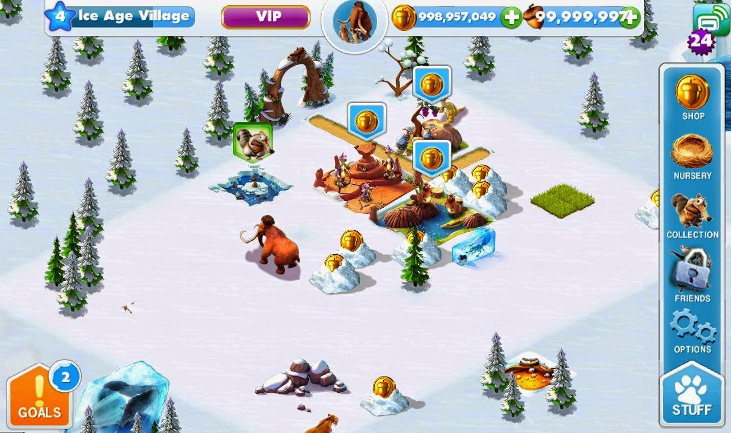 Ice Age Village чит коды